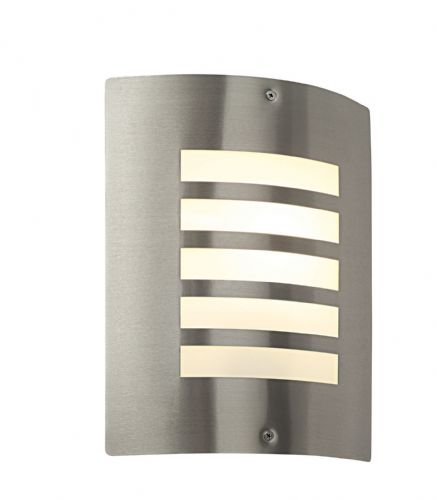 Brushed stainless steel & opal Polycarbonate Outdoor Wall Light BXST031F-17  (Double Insulated)